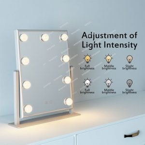 Affordable Hollywood Mirror with Lights 9 LED Bulbs