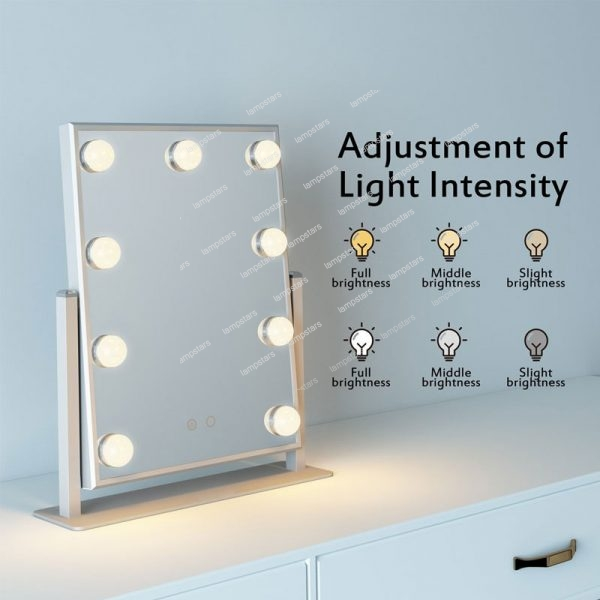 Adjustment hollywood mirrors with lights