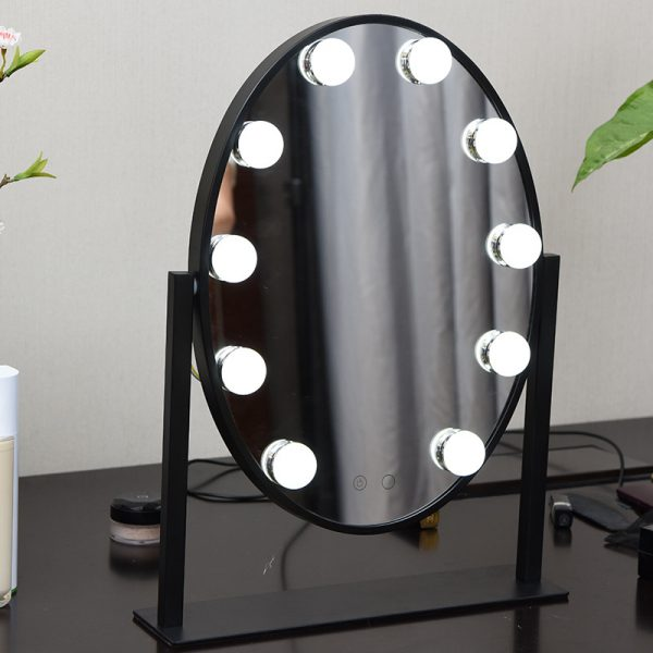black lighted vanity mirror hollywood for sale