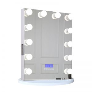 Hollywood Lighted Vanity Mirror Bluetooth Speaker 12 Bulbs