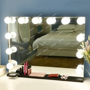 Frameless Vanity Mirror with Lights 12 led lamps