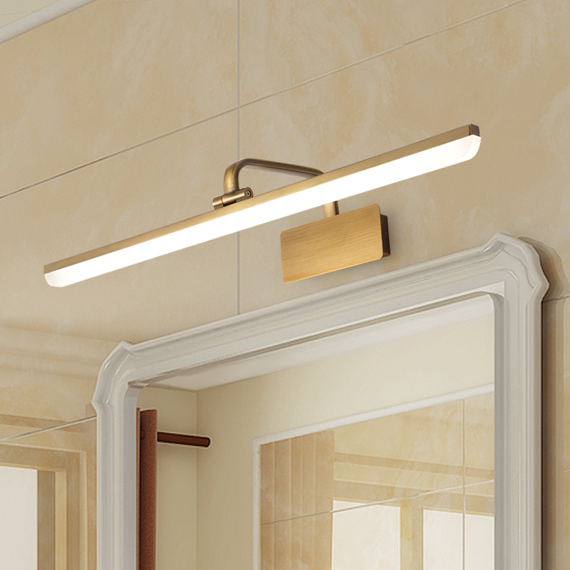 Hollywood Lights Bathroom: Copper Front Vanity LED Mirror Lamp Light For Sale