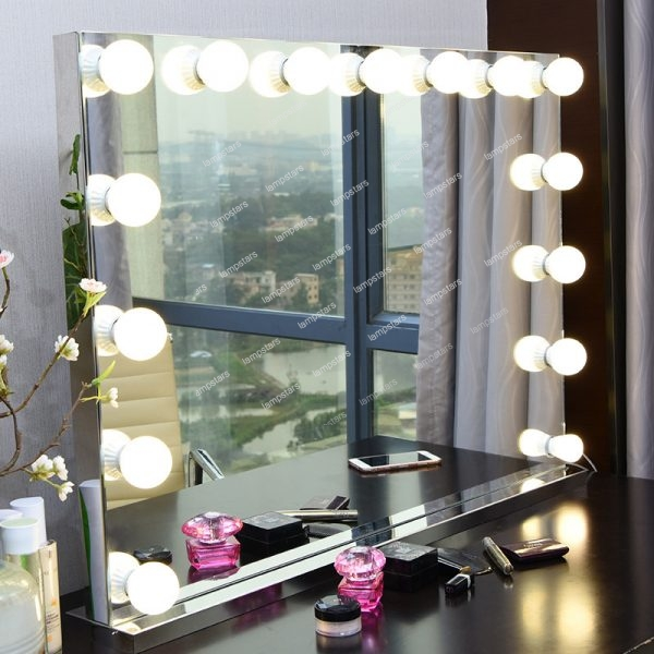 hollywood dressing room mirror with lights
