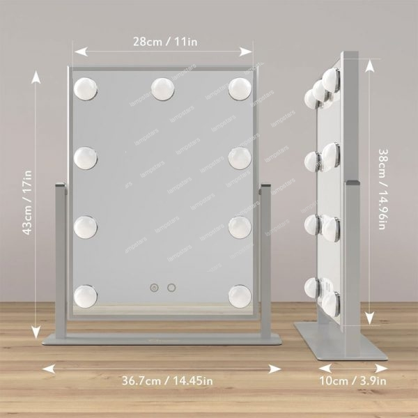 hollywood style makeup mirror with lights