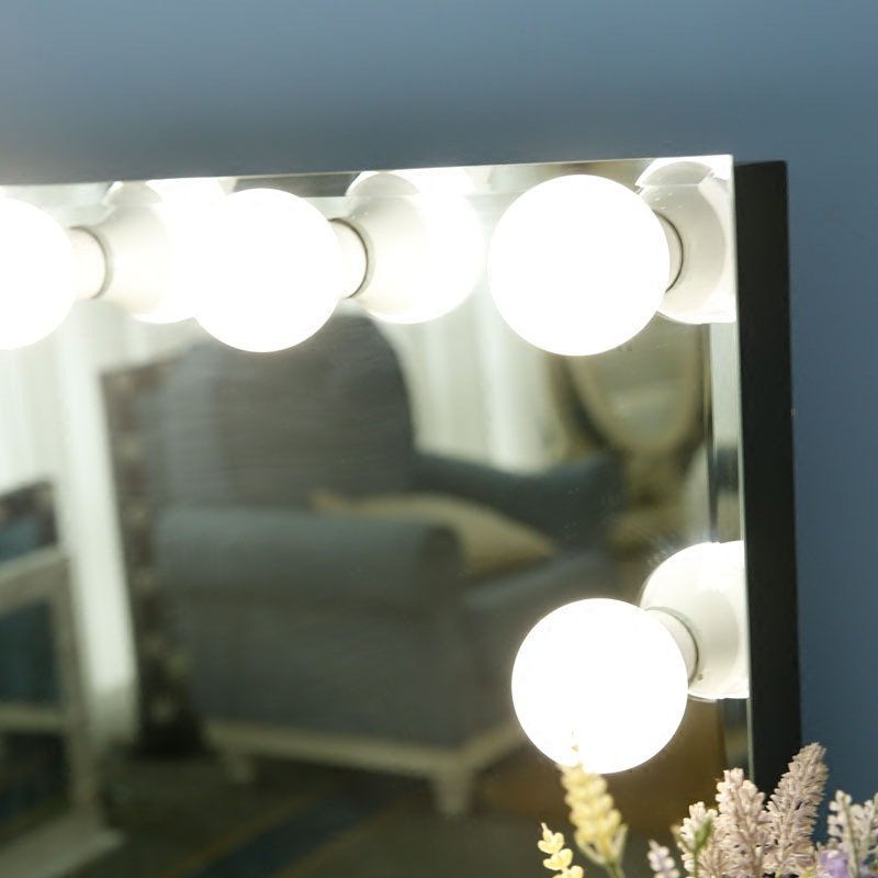 Frameless Vanity Mirror With Lights 3 Color Change