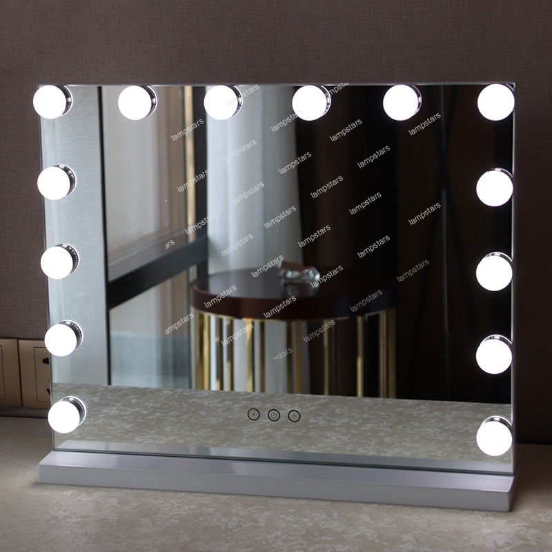Hollywood Light Up Mirror Vanity Large Size Vertical Style