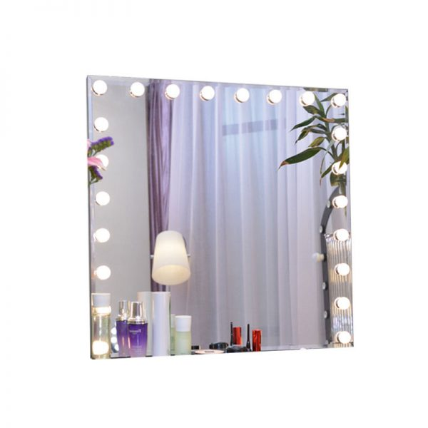 large wall mirror with light bulbs for sale