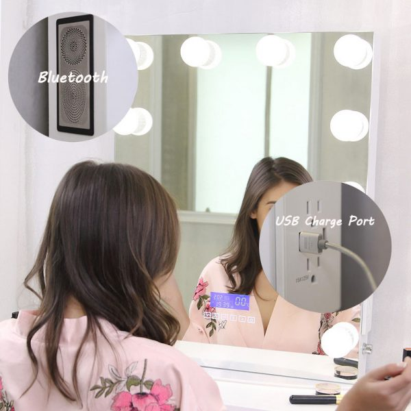 lit mirror vanity