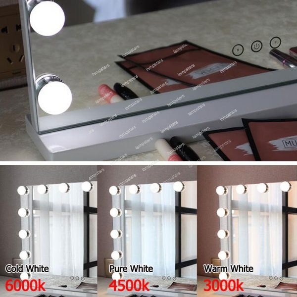 makeup desk with light up mirror