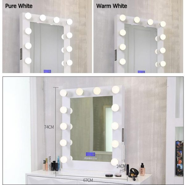 makeup vanities with lighted mirrors