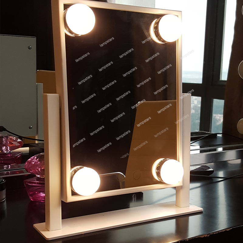 Best Light Up Makeup Mirror For Hollywood Mirror 4 Led
