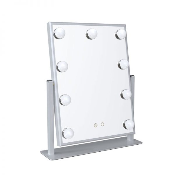 white hollywood mirror with lights for sale