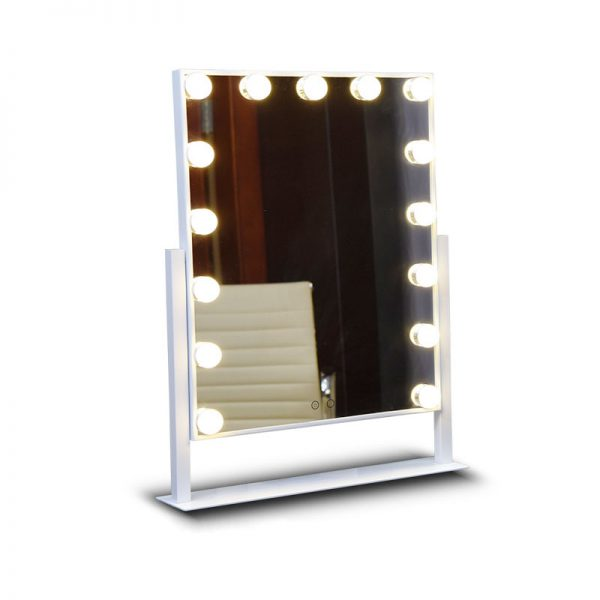 white professional lighted makeup mirror for sale